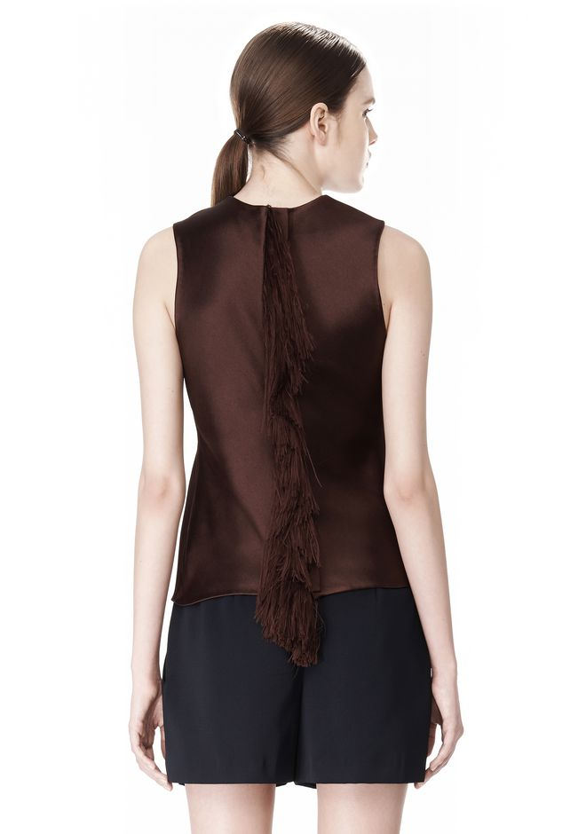 ALEXANDER WANG EXCLUSIVE SHELL TOP WITH FRINGE TOP Adult 12_n_e
