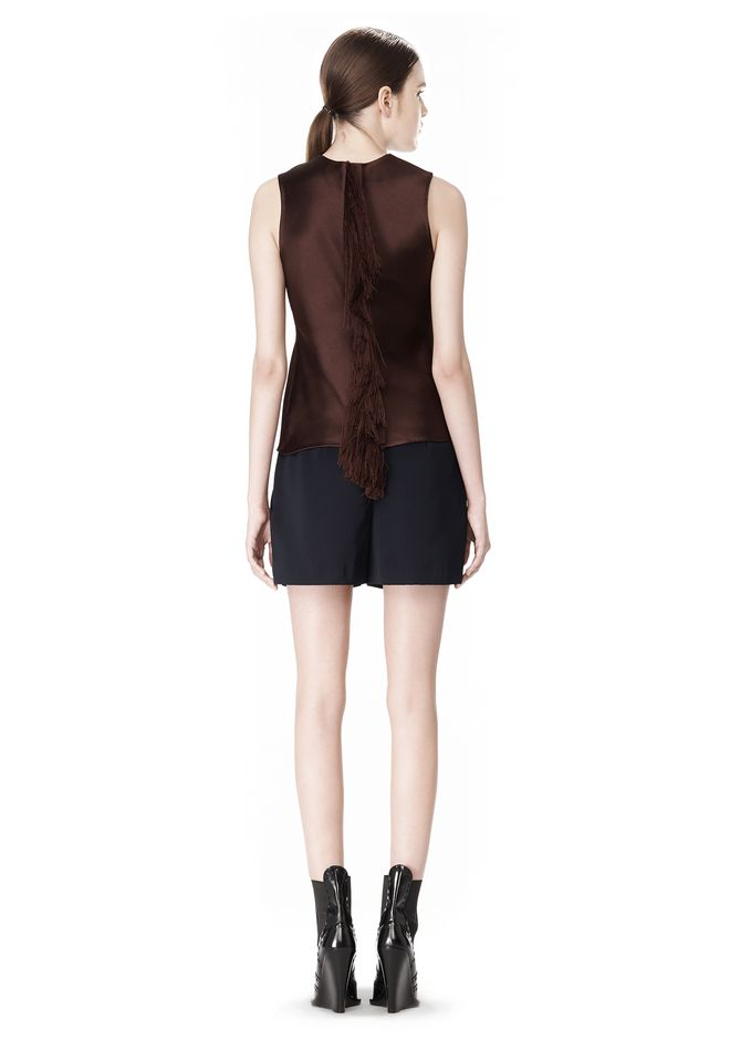 ALEXANDER WANG EXCLUSIVE SHELL TOP WITH FRINGE TOP Adult 12_n_r