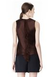 ALEXANDER WANG EXCLUSIVE SHELL TOP WITH FRINGE TOP Adult 8_n_e