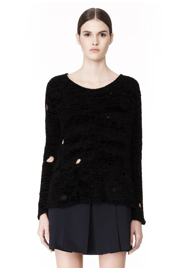ALEXANDER WANG CAST OFF TORN PULLOVER TOP Adult 12_n_e