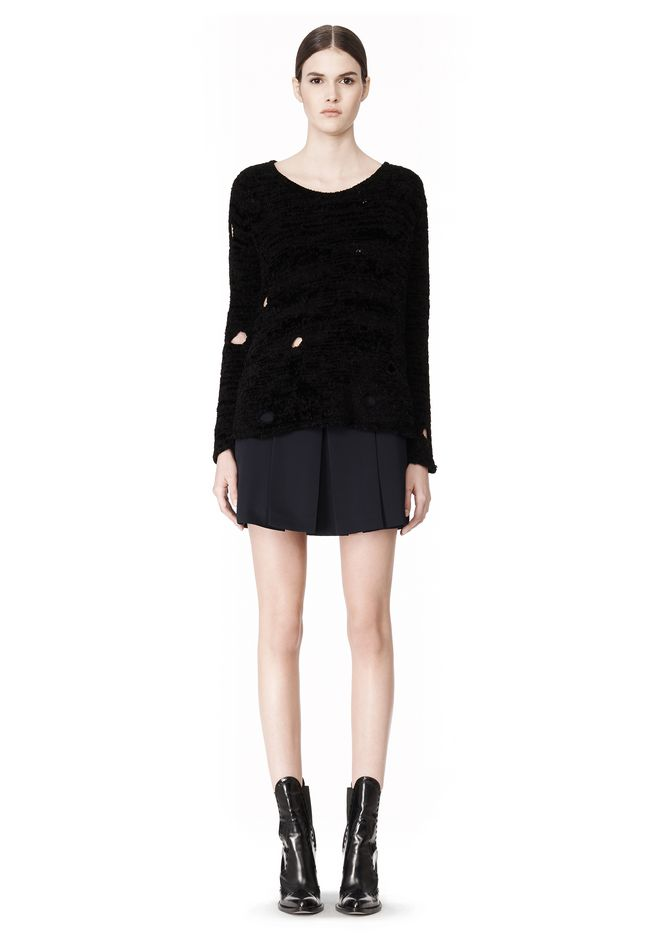 ALEXANDER WANG CAST OFF TORN PULLOVER