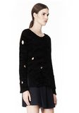 ALEXANDER WANG CAST OFF TORN PULLOVER TOP Adult 8_n_a