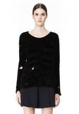 ALEXANDER WANG CAST OFF TORN PULLOVER TOP Adult 8_n_e