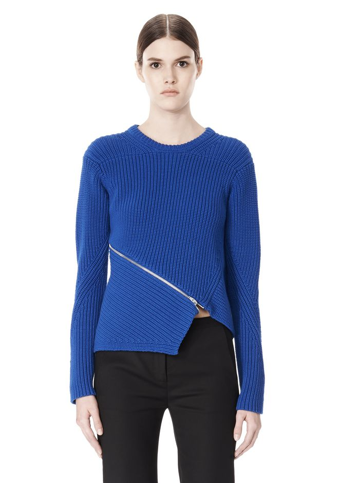 ALEXANDER WANG ZIP PEEL AWAY PULLOVER Crewneck Adult 12_n_e