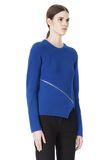 ALEXANDER WANG ZIP PEEL AWAY PULLOVER Crewneck Adult 8_n_a