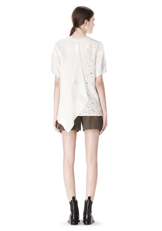 ALEXANDER WANG T-SHIRT WITH EXPOSED DISTRESSED BACK TOP Adult 12_n_r