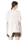 ALEXANDER WANG T-SHIRT WITH EXPOSED DISTRESSED BACK TOP Adult 8_n_e