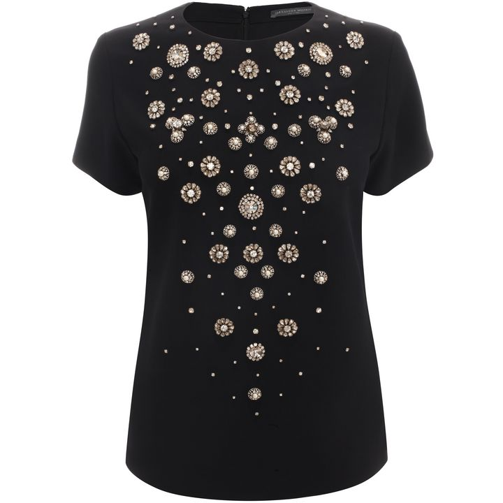 Alexander McQueen, Found Jewels Embroidered Top