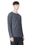 T by ALEXANDER WANG HEATHER LINEN CREWNECK LONG SLEEVE TEE TOP Adult 8_n_a