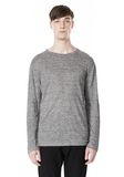 T by ALEXANDER WANG HEATHER LINEN CREWNECK LONG SLEEVE TEE TOP Adult 8_n_e