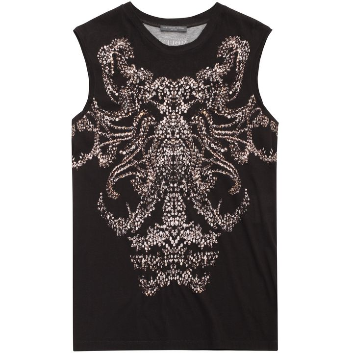 Alexander McQueen, Jewelled Print Oversized Vest