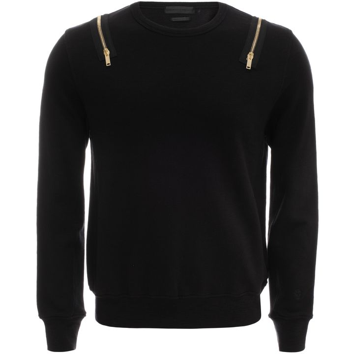 Alexander McQueen, Zip Shoulder Sweatshirt