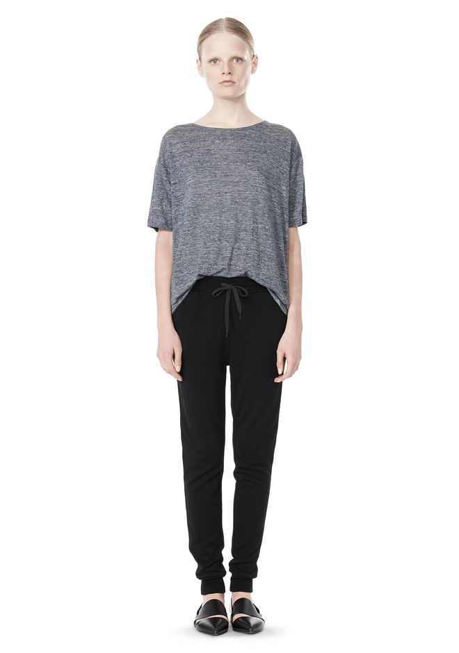 T by ALEXANDER WANG HEATHER LINEN OVERSIZED TEE TOP Adult 12_n_f