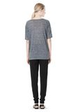T by ALEXANDER WANG HEATHER LINEN OVERSIZED TEE TOP Adult 8_n_r
