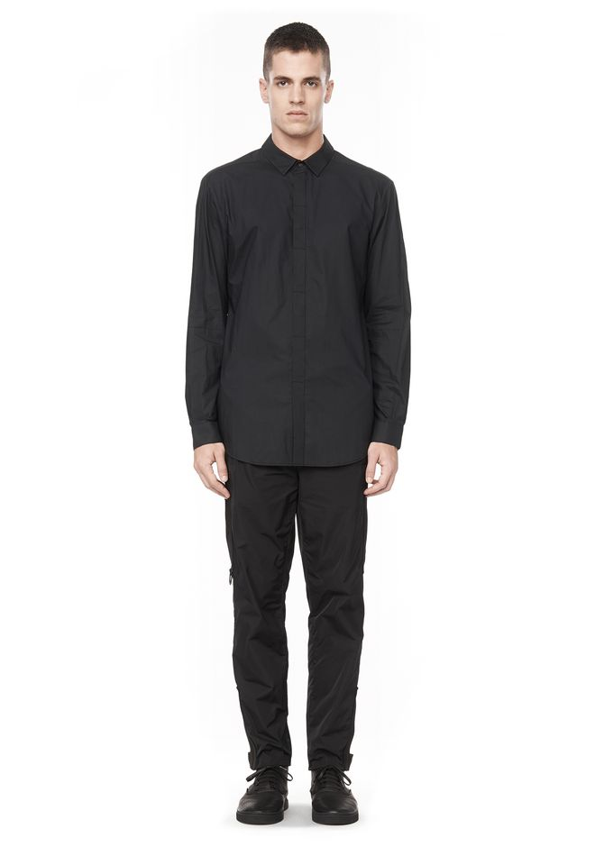 ALEXANDER WANG HIDDEN BUTTON DOWN DRESS SHIRT