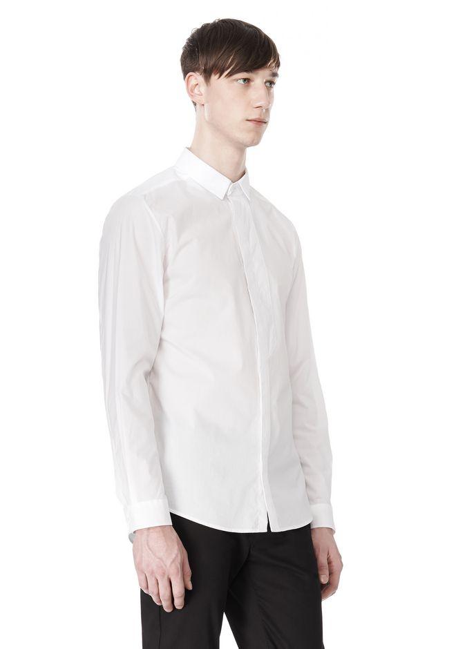 ALEXANDER WANG HIDDEN BUTTON DOWN DRESS SHIRT SHIRT Adult 12_n_a