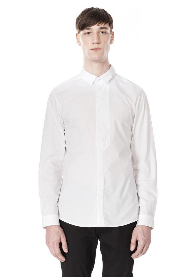 ALEXANDER WANG HIDDEN BUTTON DOWN DRESS SHIRT SHIRT Adult 12_n_e