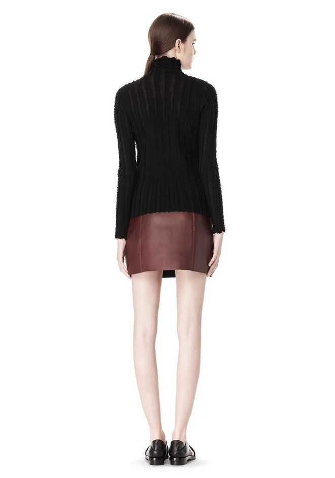 T by ALEXANDER WANG MERINO STRIPED TURTLENECK PULLOVER TOP Adult 12_n_r