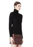 T by ALEXANDER WANG MERINO STRIPED TURTLENECK PULLOVER TOP Adult 8_n_a