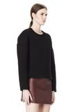 T by ALEXANDER WANG COTTON NEOPRENE CREWNECK SWEATSHIRT TOP Adult 8_n_a