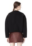 T by ALEXANDER WANG COTTON NEOPRENE CREWNECK SWEATSHIRT TOP Adult 8_n_d