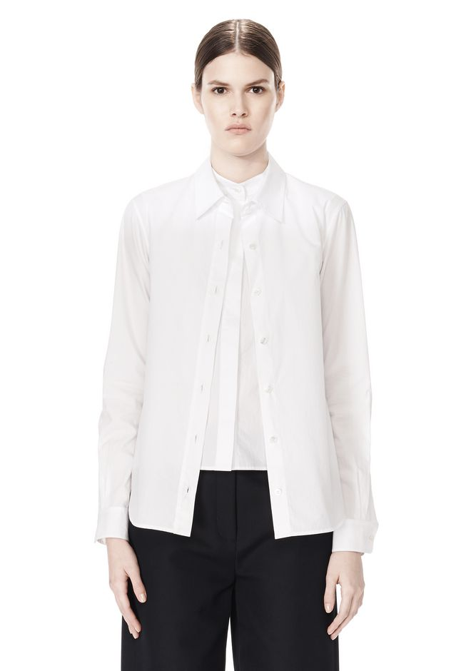 ALEXANDER WANG DOUBLE LAYER MEN'S SHIRT TOP Adult 12_n_e