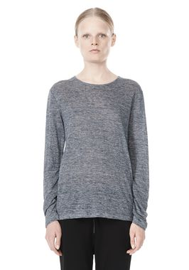 HEATHER LINEN LONG SLEEVE TEE