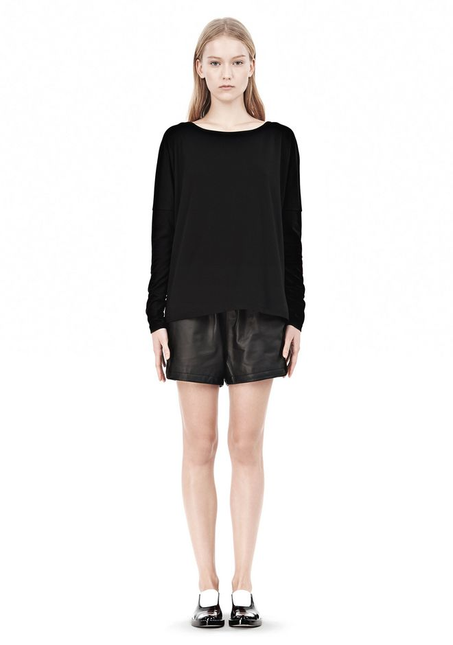 T by ALEXANDER WANG LUX PONTE DOLMAN CREWNECK LONG SLEEVE TEE Long sleeve t-shirt Adult 12_n_f