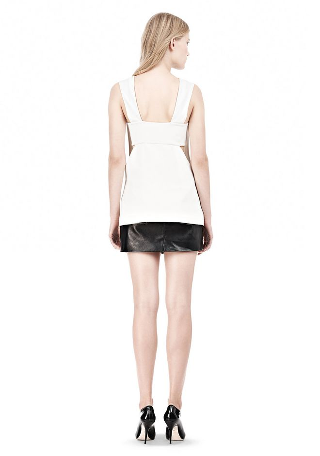 T by ALEXANDER WANG POLY CREPE LOW V-NECK TANK TOP WITH BANDEAU INSERT TOP Adult 12_n_r