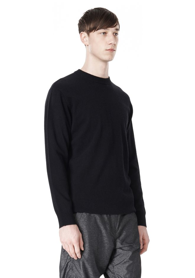T by ALEXANDER WANG MERINO BLEND KNIT CREWNECK PULLOVER Crewneck Adult 12_n_e