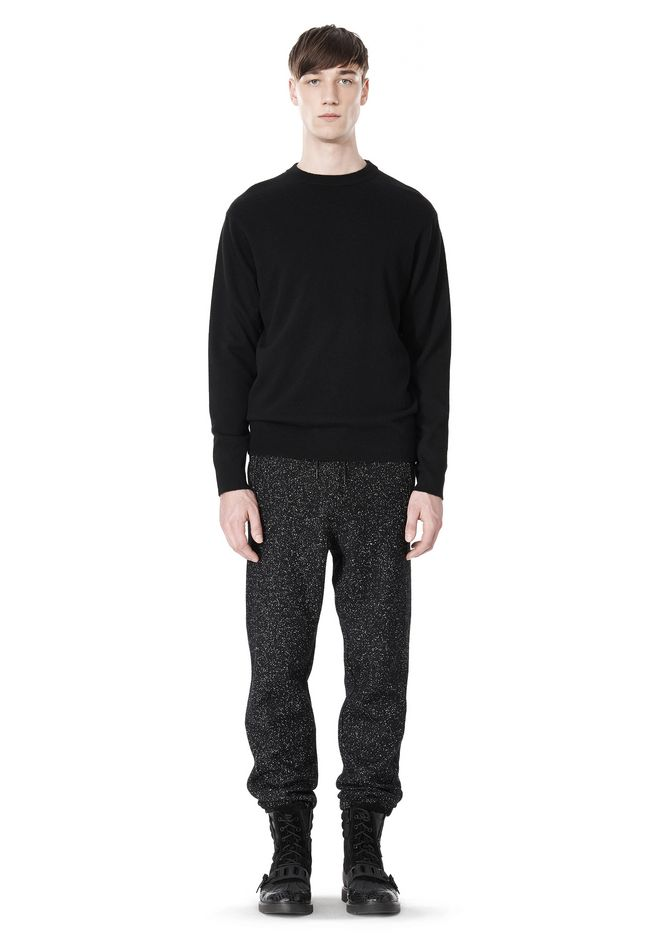 T by ALEXANDER WANG MERINO BLEND KNIT CREWNECK PULLOVER
