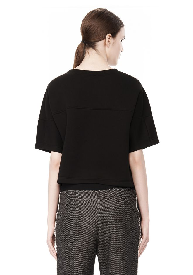 T by ALEXANDER WANG SCUBA DOUBLE KNIT SHORT SLEEVE TOP TOP Adult 12_n_d