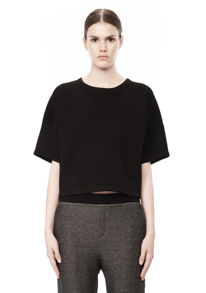 T by ALEXANDER WANG SCUBA DOUBLE KNIT SHORT SLEEVE TOP TOP Adult 12_n_e