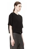 T by ALEXANDER WANG SCUBA DOUBLE KNIT SHORT SLEEVE TOP TOP Adult 8_n_a