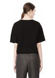 T by ALEXANDER WANG SCUBA DOUBLE KNIT SHORT SLEEVE TOP TOP Adult 8_n_d