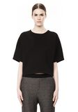 T by ALEXANDER WANG SCUBA DOUBLE KNIT SHORT SLEEVE TOP TOP Adult 8_n_e