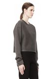 T by ALEXANDER WANG SCUBA DOUBLE KNIT CREWNECK SWEATSHIRT TOP Adult 8_n_a