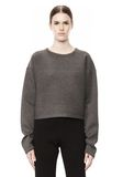 T by ALEXANDER WANG SCUBA DOUBLE KNIT CREWNECK SWEATSHIRT TOP Adult 8_n_e