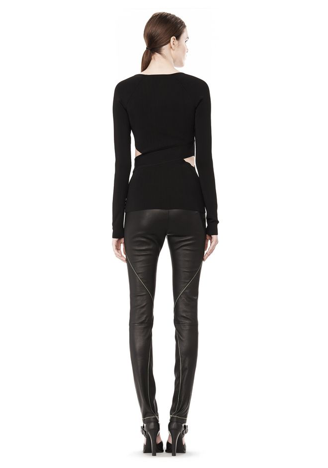 T by ALEXANDER WANG CRISS CROSS LONG SLEEVE TOP TOP Adult 12_n_r