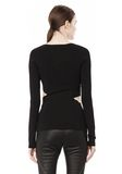 T by ALEXANDER WANG CRISS CROSS LONG SLEEVE TOP TOP Adult 8_n_d