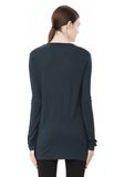 T by ALEXANDER WANG CLASSIC LONG SLEEVE TEE WITH POCKET TOP Adult 8_n_d