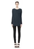 T by ALEXANDER WANG CLASSIC LONG SLEEVE TEE WITH POCKET TOP Adult 8_n_f