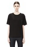 WASHED SILK CHARMEUSE SHORT SLEEVE TEE