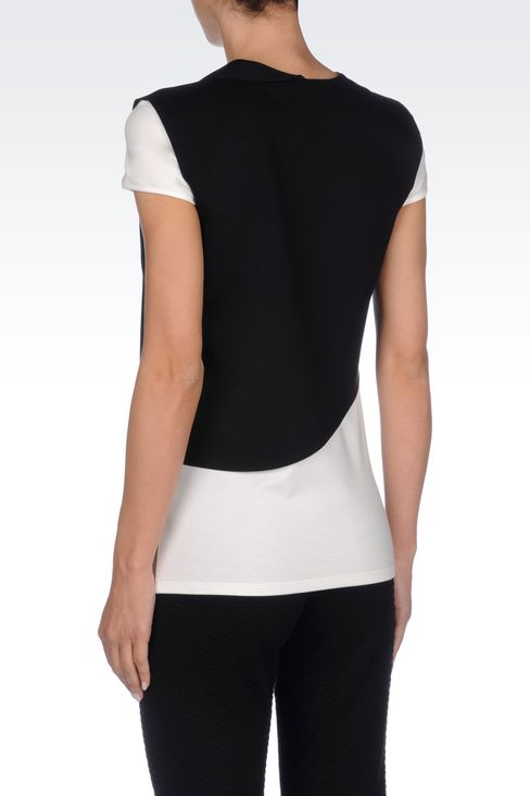 RUNWAY T-SHIRT IN JERSEY: Short-sleeve t-shirts Women by Armani - 4