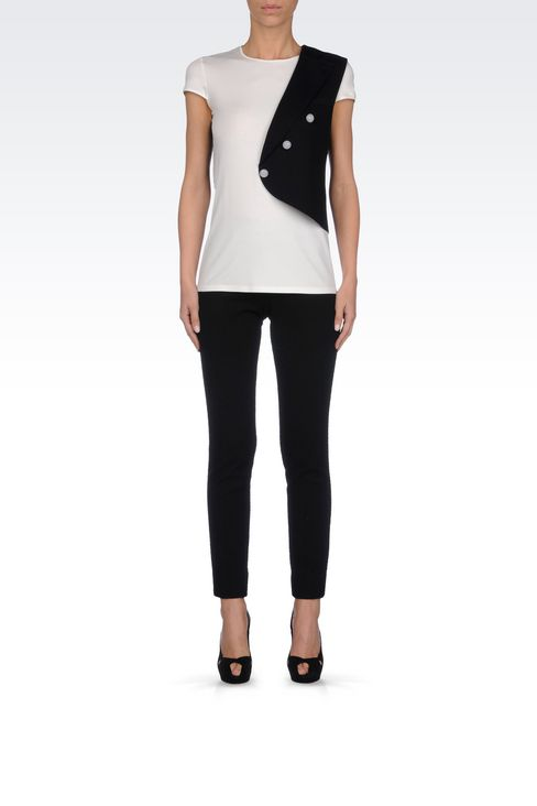 RUNWAY T-SHIRT IN JERSEY: Short-sleeve t-shirts Women by Armani - 2