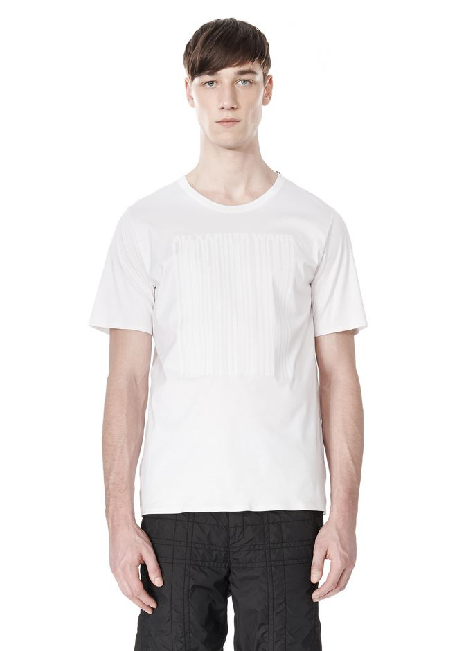 ALEXANDER WANG LASER CUT LOGO BONDED T SHIRT Short sleeve t-shirt Adult 12_n_e