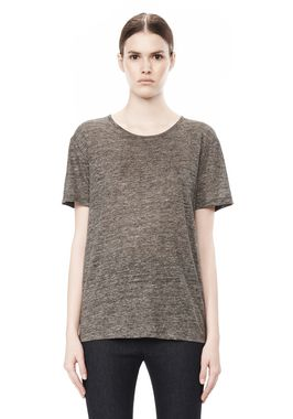 HEATHER LINEN SHORT SLEEVE CREW NECK TEE