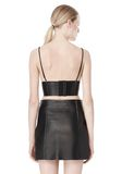 T by ALEXANDER WANG RAW EDGE TRIANGLE LEATHER BRALETTE Swimwear Adult 8_n_d
