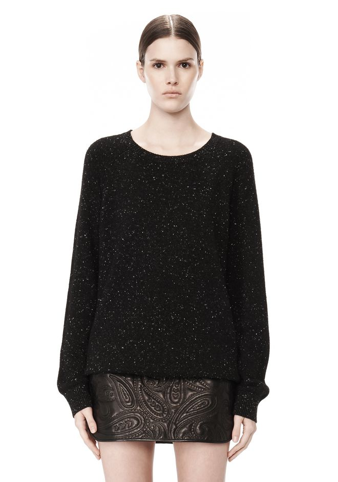 ALEXANDER WANG CASHMERE DONEGAL PULLOVER Crewneck Adult 12_n_e
