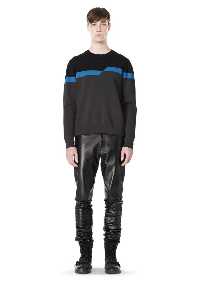 ALEXANDER WANG BROKEN STRIPE SWEATSHIRT